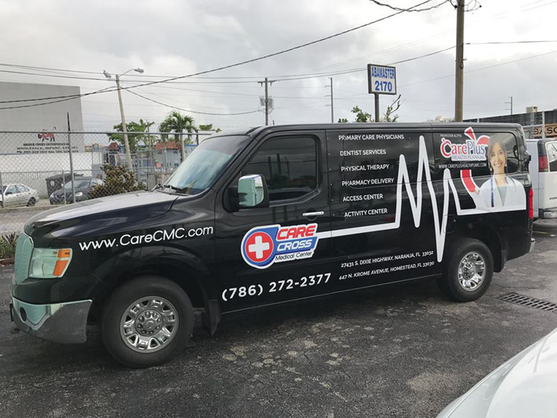Van Custom Wrap, Care Plus, Commercial Wrap miami