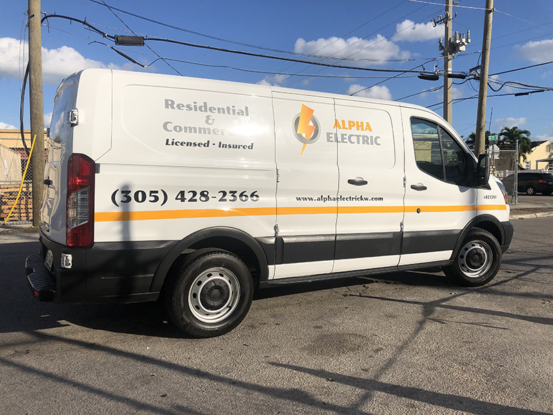 Van lettering and Graphics, Electric Van Lettering
