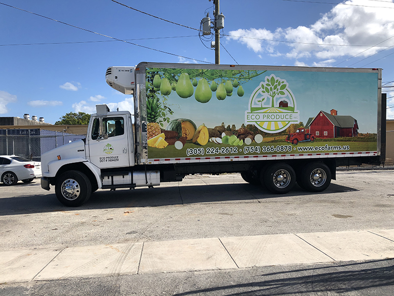 Commercial Box Truck Wraps, Graphics & Lettering miami