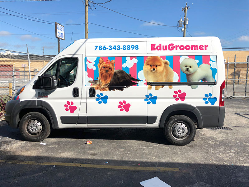 Truck Full Wrap Mobile Groomer