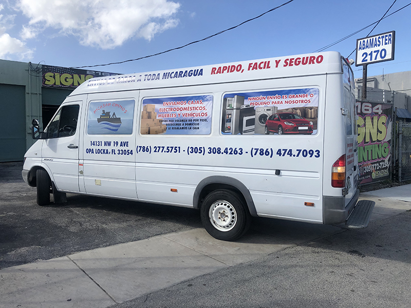 Truck Graphics & Van Lettering, SUV's Full Wrap, Commercial Wrapping Miami, Arlon SXL,