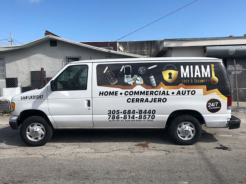 LockSmith Van Partial Wrap, Pick up truck Full Wrap Pool Services